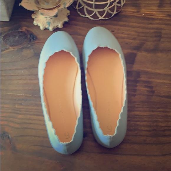 LC Lauren Conrad Shoes - Lauren Conrad blue scalloped ballet flats